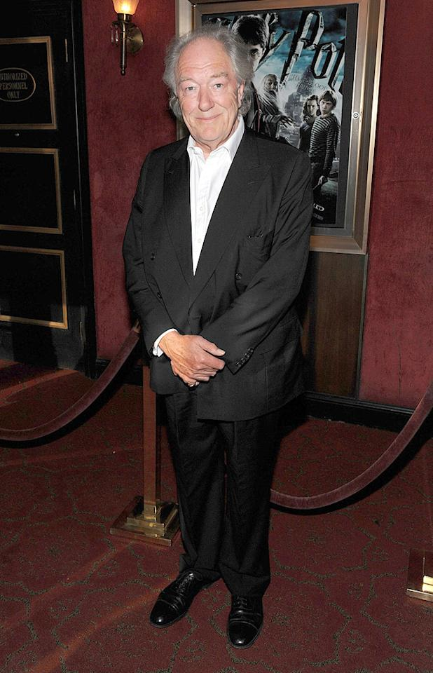 """<a href=""""http://movies.yahoo.com/movie/contributor/1800018836"""">Michael Gambon</a> at the New York premiere of <a href=""""http://movies.yahoo.com/movie/1809791044/info"""">Harry Potter and the Half-Blood Prince</a> - 07/09/2009"""