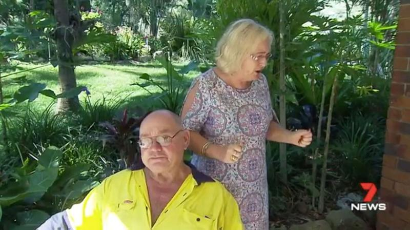 Henry and Sue Spierenburg are traumatised by the violent break-in. Source: 7 News