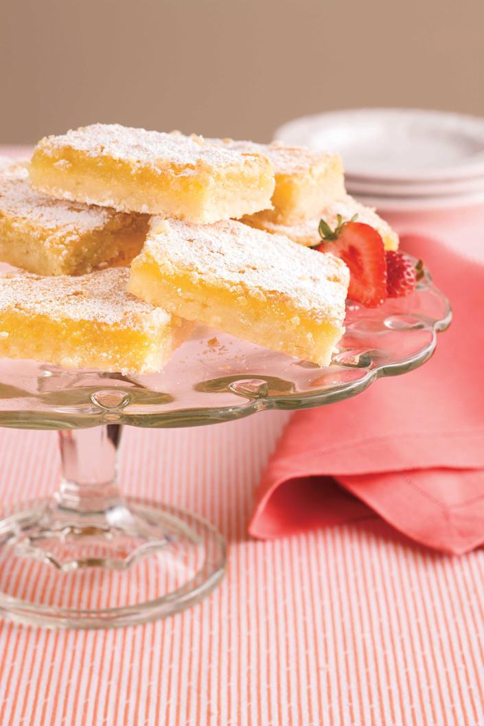 "<p><strong>Recipe: <a href=""http://www.myrecipes.com/recipe/luscious-lemon-bars"" rel=""nofollow noopener"" target=""_blank"" data-ylk=""slk:Luscious Lemon Bars"" class=""link rapid-noclick-resp"">Luscious Lemon Bars</a></strong></p> <p> Grandma would never show up to a party empty-handed, and these lemon bars are a go-to solution for a crowd-pleasing, portable dessert.</p>"