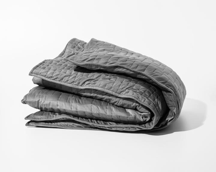 """<p>The <a rel=""""nofollow"""" href=""""https://www.popsugar.com/buy/Gravity%20Cooling%20Blanket-375551?p_name=Gravity%20Cooling%20Blanket&retailer=gravityblankets.com&price=249&evar1=fit%3Aus&evar9=45410504&evar98=https%3A%2F%2Fwww.popsugar.com%2Ffitness%2Fphoto-gallery%2F45410504%2Fimage%2F45412005%2FGravity-Cooling-Blanket&list1=stress%2Csleep%2Cmental%20health%2Canxiety%2Chealthy%20living&prop13=mobile&pdata=1"""" rel=""""nofollow"""">Gravity Cooling Blanket</a> ($249) has it all: it comes with a micro-fiber removable duvet cover (cute colors, no less), clasps to keep your weighted blanket in place, and has gridded stitching to ensure your blanket's microbeads are uniformly distributed. Yes to all of the above, please!</p>"""