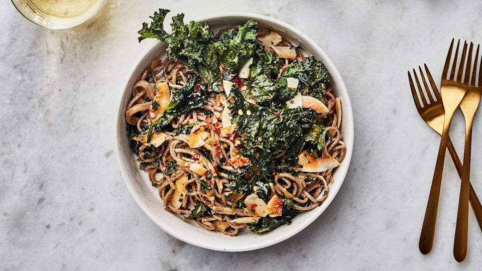 "<a href=""https://www.bonappetit.com/recipe/soba-noodles-with-crispy-kale?mbid=synd_yahoo_rss"" rel=""nofollow noopener"" target=""_blank"" data-ylk=""slk:See recipe."" class=""link rapid-noclick-resp"">See recipe.</a>"