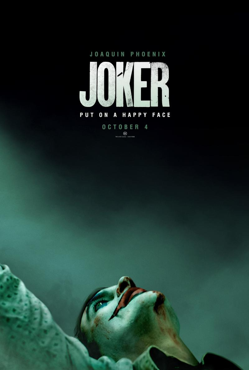Joaquin Phoenix featured on the 'Joker' poster. (Warner Bros.)