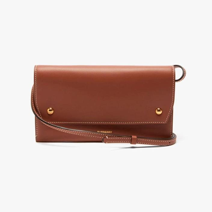 """$790, MATCHESFASHION.COM. <a href=""""https://www.matchesfashion.com/us/products/Burberry-Logo-print-grained-leather-cross-body-bag-1418156"""" rel=""""nofollow noopener"""" target=""""_blank"""" data-ylk=""""slk:Get it now!"""" class=""""link rapid-noclick-resp"""">Get it now!</a>"""