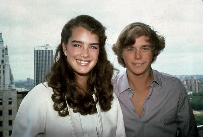 """NEW YORK, NY - CIRCA 1980: Brooke Shields and """"Blue Lagoon"""" co-star Christopher Atkins circa 1980 in New York City. (Photo by Sonia Moskowitz/IMAGES/Getty Images)"""