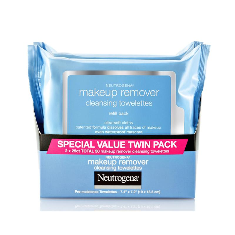 Neutrogena Makeup Remover Cleansing Face Wipes. (Photo: Walmart)