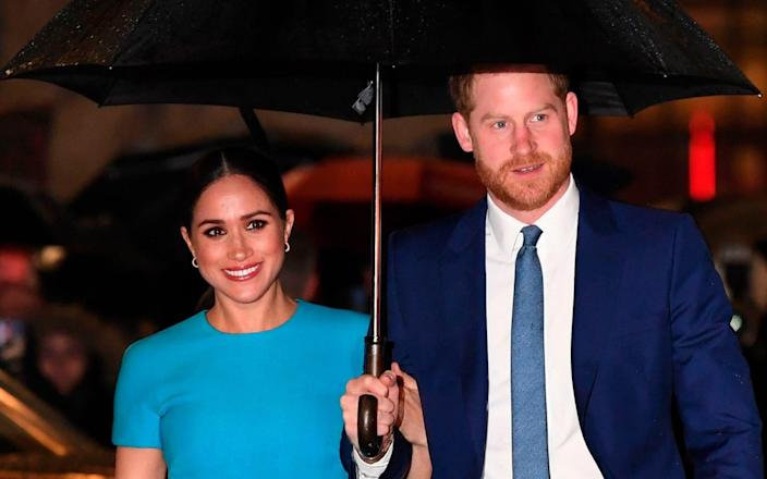 The Duke and Duchess of Sussex, pictured in London earlier this year - Daniel Leal-Olivas/AFP via Getty Images