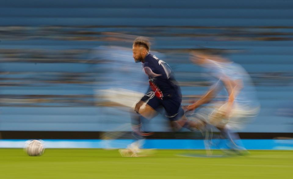 Soccer Football - Champions League - Semi Final Second Leg - Manchester City v Paris St Germain - Etihad Stadium, Manchester, Britain - May 4, 2021 Paris St Germain's Neymar in action REUTERS/Phil Noble     TPX IMAGES OF THE DAY