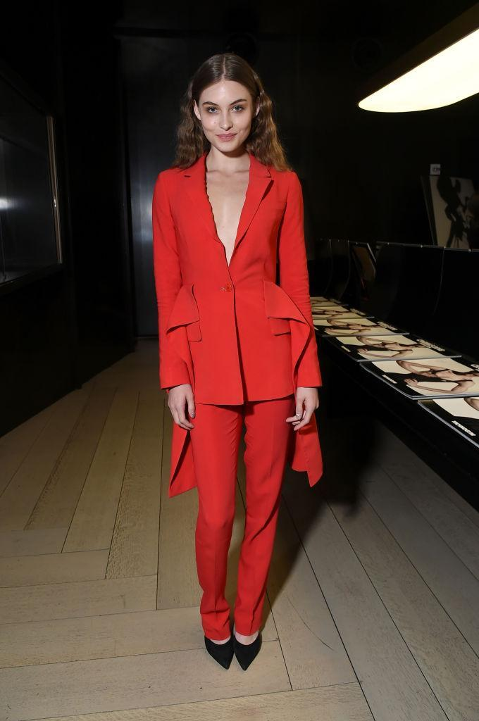 <p>Model Grace Elizabeth plays with texture and color at a <em>CR Fashion Book</em> launch party. (Photo: Getty Images) </p>