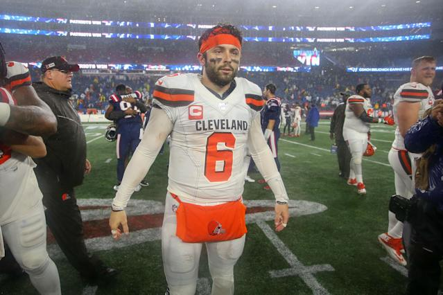 Baker Mayfield butted heads with a reporter on Wednesday as frustration continues to build amid the Browns' 2-5 season. (USA Today Sports)