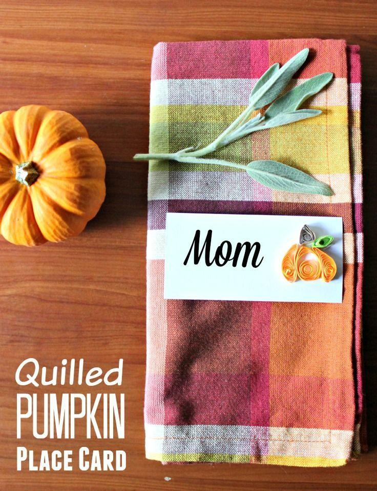 "<p>By getting crafty with paper quilling strips and a pair of scissors, you can easily create these beautiful pumpkin place cards for your Thanksgiving dinner party. </p><p><strong>Get the tutorial at <a href=""https://confessionsofanover-workedmom.com/pumpkin-quilling-pattern-for-place-card/"" rel=""nofollow noopener"" target=""_blank"" data-ylk=""slk:Confessions of an Overworked Mom"" class=""link rapid-noclick-resp"">Confessions of an Overworked Mom</a>.</strong></p><p><a class=""link rapid-noclick-resp"" href=""https://www.amazon.com/IMISNO-Quilling-Strips-Colors-10mmx38cm/dp/B01DVYWU36?tag=syn-yahoo-20&ascsubtag=%5Bartid%7C10050.g.1538%5Bsrc%7Cyahoo-us"" rel=""nofollow noopener"" target=""_blank"" data-ylk=""slk:SHOP PAPER QUILLING STRIPS"">SHOP PAPER QUILLING STRIPS</a><strong><br></strong></p>"