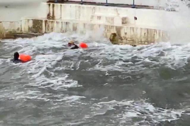 'Foolish' wild swimmers taking to the sea in dangerous conditions