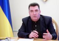 Secretary of Ukraine's National Security and Defence Council Danilov gives an interview in Kyiv