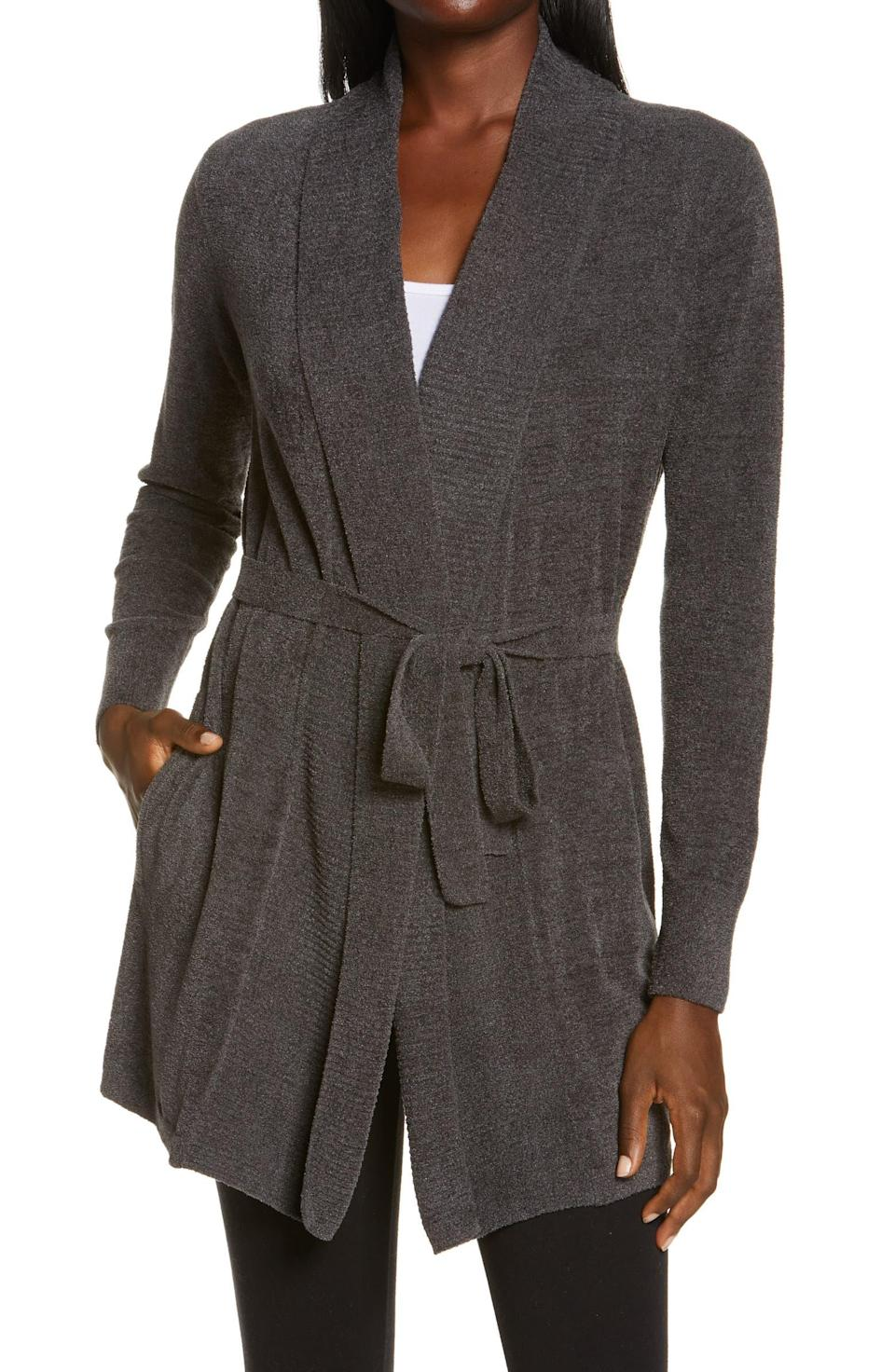 """<h2>Barefoot Dreams CozyChic Drape Rib Cardigan</h2><br><strong>NEXT BEST DEAL</strong><br>The same buttery cardigan with a slighlty different cut and wrap detailing. A win-win.<br><br><em>Shop more <a href=""""https://go.skimresources.com/?id=30283X879131&xs=1&url=https%3A%2F%2Fwww.nordstrom.com%2Fbrowse%2Fanniversary-sale%2Fall%3Fcampaign%3D0728publicgnpt1%26jid%3Dj012165-15573%26cid%3D00000%26cm_sp%3Dmerch-_-anniversary_15573_j012165-_-catpromo_corp_persnav_shop%26%3D%26postalCodeAvailability%3D10543%26filterByProductType%3Dclothing_sweaters&sref=https%3A%2F%2Fwww.refinery29.com%2Fen-us%2Fnordstrom-anniversary-sale-best-sellers"""" rel=""""nofollow noopener"""" target=""""_blank"""" data-ylk=""""slk:Nordstrom Anniversary Sale sweaters"""" class=""""link rapid-noclick-resp"""">Nordstrom Anniversary Sale sweaters</a></em> <br><br><strong>BAREFOOT DREAMS®</strong> CozyChic™ Drape Rib Cardigan, $, available at <a href=""""https://go.skimresources.com/?id=30283X879131&url=https%3A%2F%2Fwww.nordstrom.com%2Fs%2Fbarefoot-dreams-cozychic-drape-rib-cardigan%2F5923483"""" rel=""""nofollow noopener"""" target=""""_blank"""" data-ylk=""""slk:Nordstrom"""" class=""""link rapid-noclick-resp"""">Nordstrom</a>"""