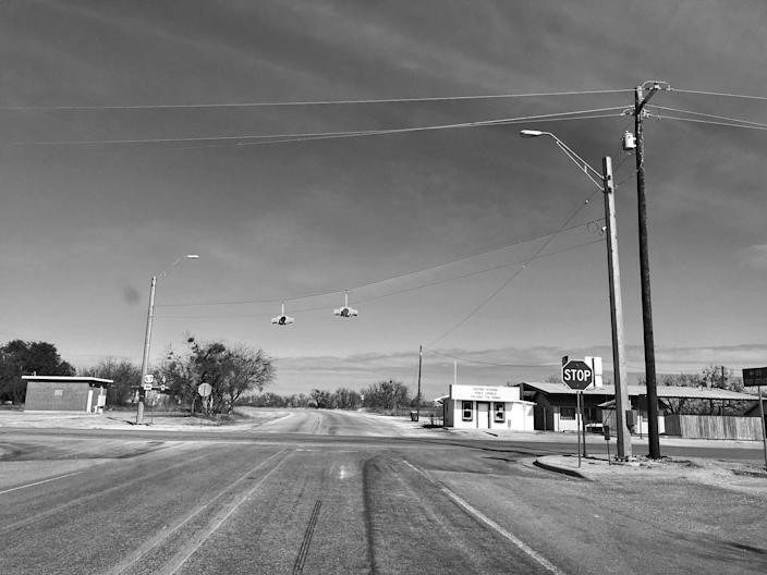Like Sutherland Springs, Valera, Texas, is a one-stoplight town. (Photo: Holly Bailey/Yahoo News)