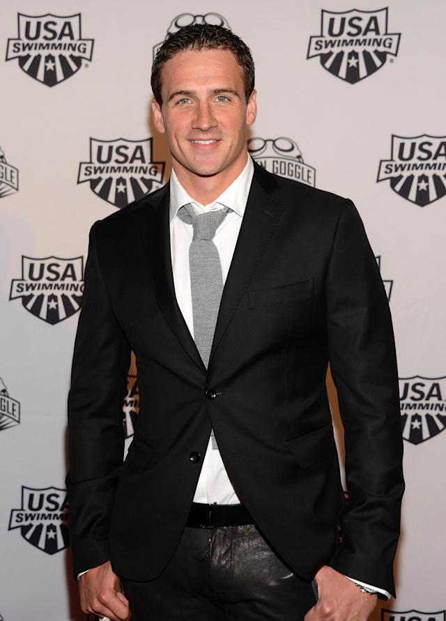 NEW YORK, NY - NOVEMBER 19: Olympic athlete Ryan Lochte attends the 2012 Golden Goggle awards at the Marriott Marquis Times Square on November 19, 2012 in New York City. (Photo by Stephen Lovekin/Getty Images)