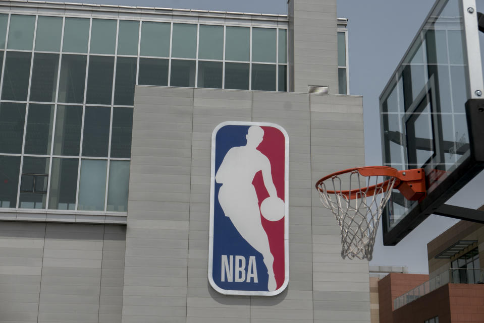 WUQING, TIANJIN, CHINA - 2018/05/07: NBA China opened its first lifestyle center on April 25 in Tianjin.  The center covers 12,000 square meters and offers regulation-sized basketball courts, a basketball theme kid's center and an NBA retail store. (Photo by Zhang Peng/LightRocket via Getty Images)