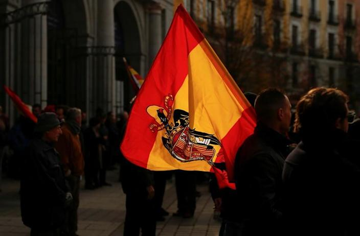 Franco supporters march against his exhumation on 44th anniversary of his death, in Madrid