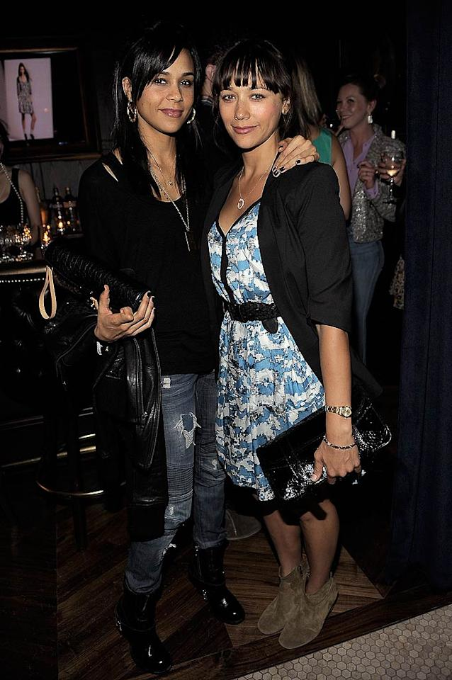 "Another duo of sisters showed up to join in the fun. ""Parks and Recreation"" star Rashida Jones (right) attended the party with her older sister, stylist Kidada Jones. Charley Gallay/<a href=""http://www.wireimage.com"" target=""new"">WireImage.com</a> - June 21, 2011"
