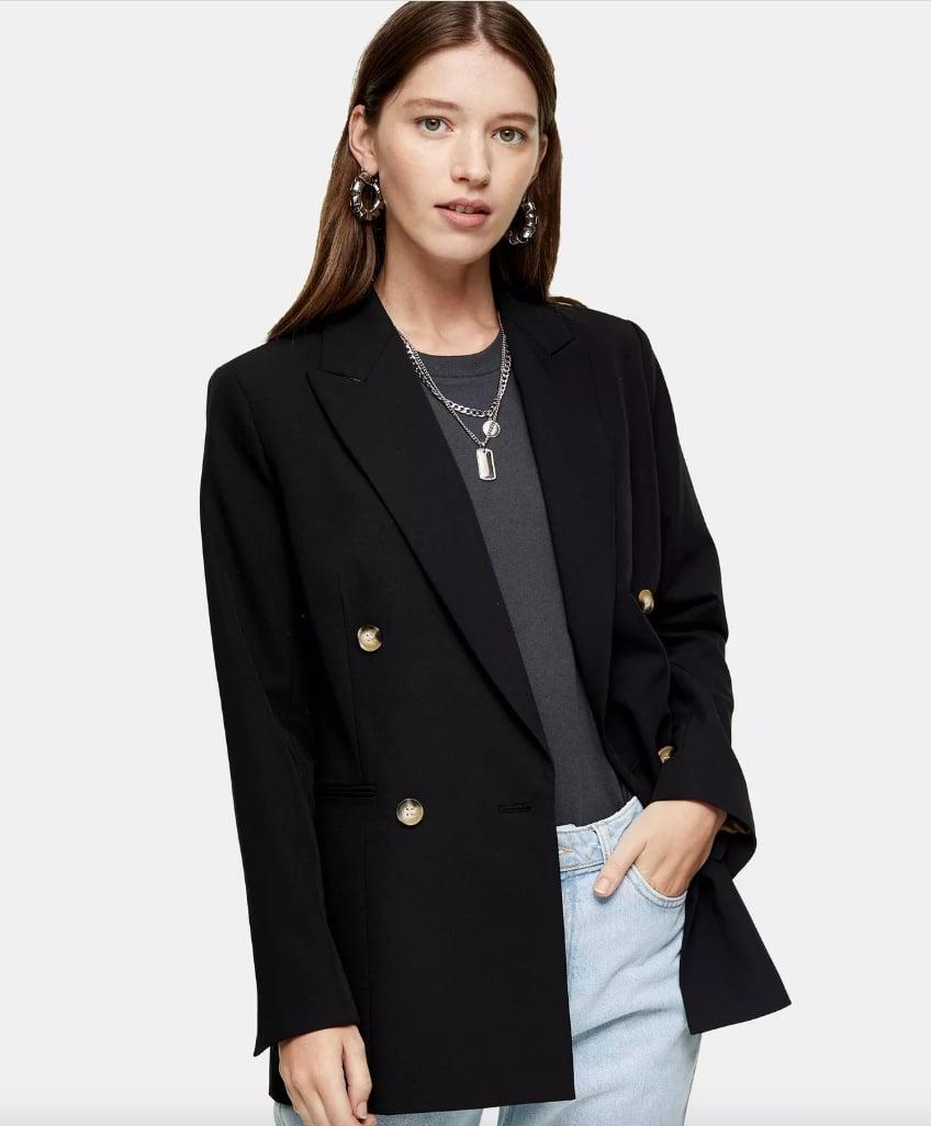 "<p>There may be no other piece in your closet that can lend instant polish the way a great <a href=""https://www.popsugar.com/buy/blazer-551949?p_name=blazer&retailer=us.topshop.com&pid=551949&price=95&evar1=fab%3Aus&evar9=34097656&evar98=https%3A%2F%2Fwww.popsugar.com%2Ffashion%2Fphoto-gallery%2F34097656%2Fimage%2F34097664%2FBlazer&list1=shopping%2Ctheory%2Cstyle%20how%20to&prop13=mobile&pdata=1"" class=""link rapid-noclick-resp"" rel=""nofollow noopener"" target=""_blank"" data-ylk=""slk:blazer"">blazer</a> ($95) can. Don't just wear it to work; adding it to skinny jeans and pumps is an instantly sexy, sophisticated look for drinks after hours, too.</p>"