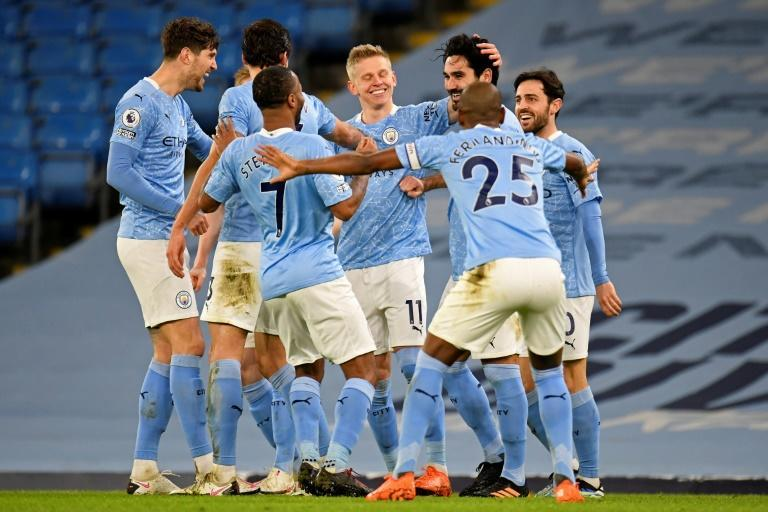 Manchester City players still celebrated goals in groups despite warnings on social distancing