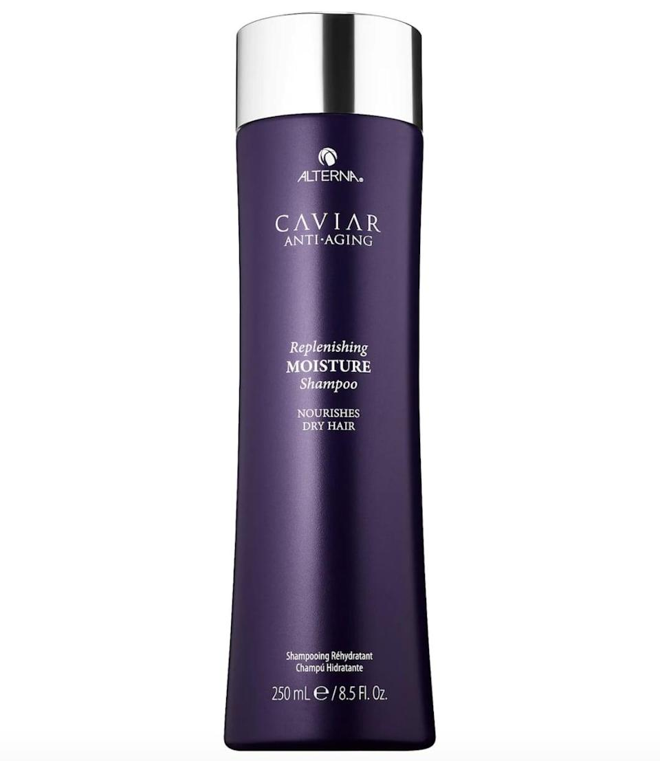 <p>The hero ingredient in paraben- and sulfate-free <span>Alterna Haircare Caviar Anti-Aging Replenishing Moisture Shampoo</span> ($34) is pure caviar extract, rich in proteins, minerals, omega-3 fatty acids, and vitamins A, C, and D, for nourishing strands. A blend of sea silk helps target and prevent future signs of aging and stress.</p>