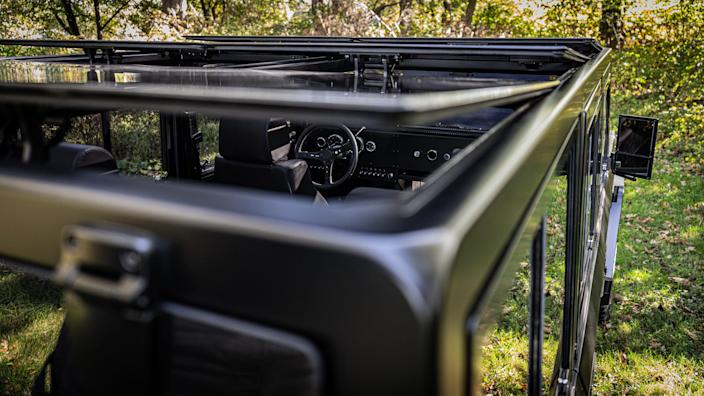 8 Bollinger Motors B1 glass roof top outdoors