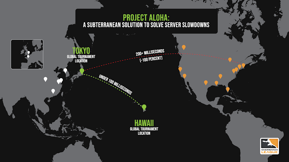 """""""Project Aloha"""" will allow the Overwatch League the ability to stage a low-latency finale to its four in-season tournaments with the North American champion traveling to Hawaii for the match."""