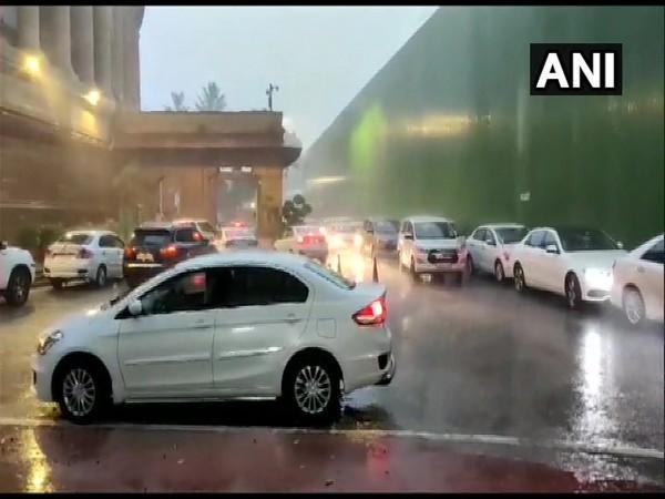 Visuals from Parliament (Photo/ANI)