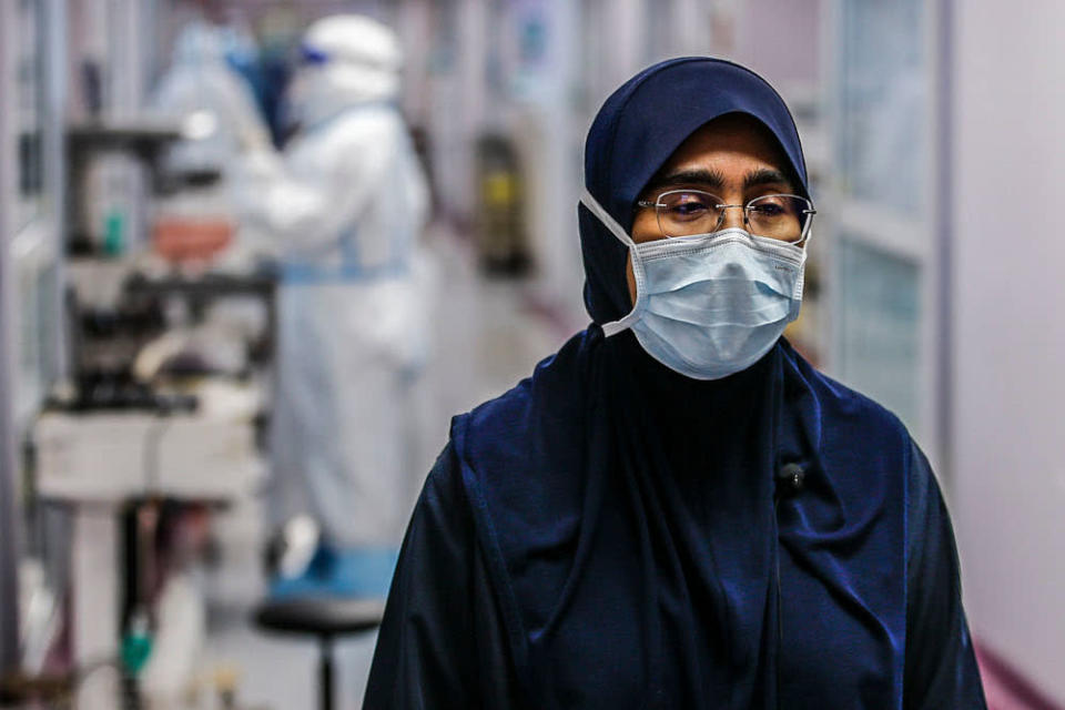 University Malaya Medical Centre infectious disease head Assoc Prof Dr Sharifah Faridah Syed Omar has seen many ups and downs throughout the pandemic trying to save her patients. — Picture by Hari Anggara