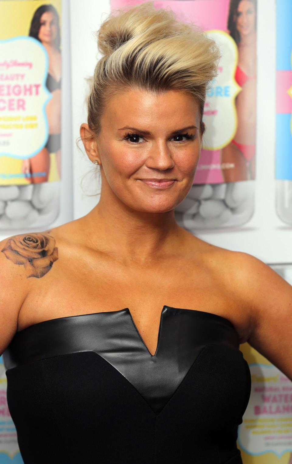 Kerry Katona is revealed as the ambassador for Natural Beauty Slimming at the Soho Hotel in central London.