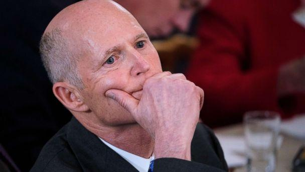 PHOTO: Florida Governor Rick Scott listens to a speaker at the White House on Feb. 26, 2018 in Washington. (Mandel Ngan/AFP/Getty Images, FILE)