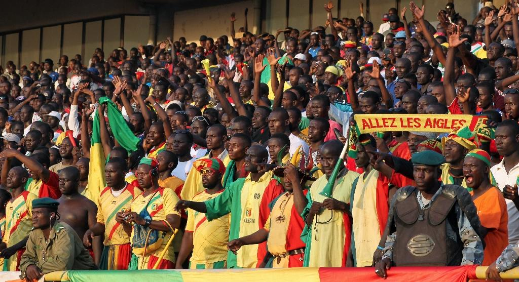 Mali fans at the 2015 Africa Cup of Nations qualifier against Algeria in November 2014 at the March 26 Stadium in Bamako (AFP Photo/HABIBOU KOUYATE)