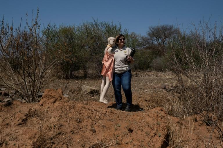 Elmarie Myburgh is the only criminal profiler in South Africa, where someone is killed every 25 minutes (AFP/WIKUS DE WET)