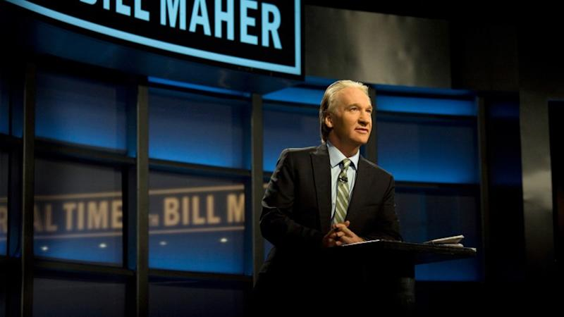 Bill Maher on the set of his 'Real Time with Bill Maher' show