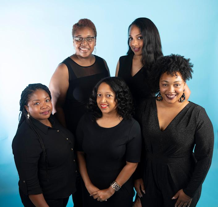 The Women, from left, Kanika White, Tanika Harper, Dasha Lundy, Angela Dennis, and Deidra Harper on Sunday, June 28, 2020.