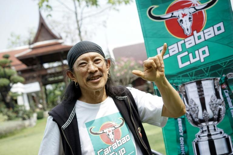 Yuenyong Opakul, lead singer of legendary Thai rock band Carabao and owner of Carabao energy drink