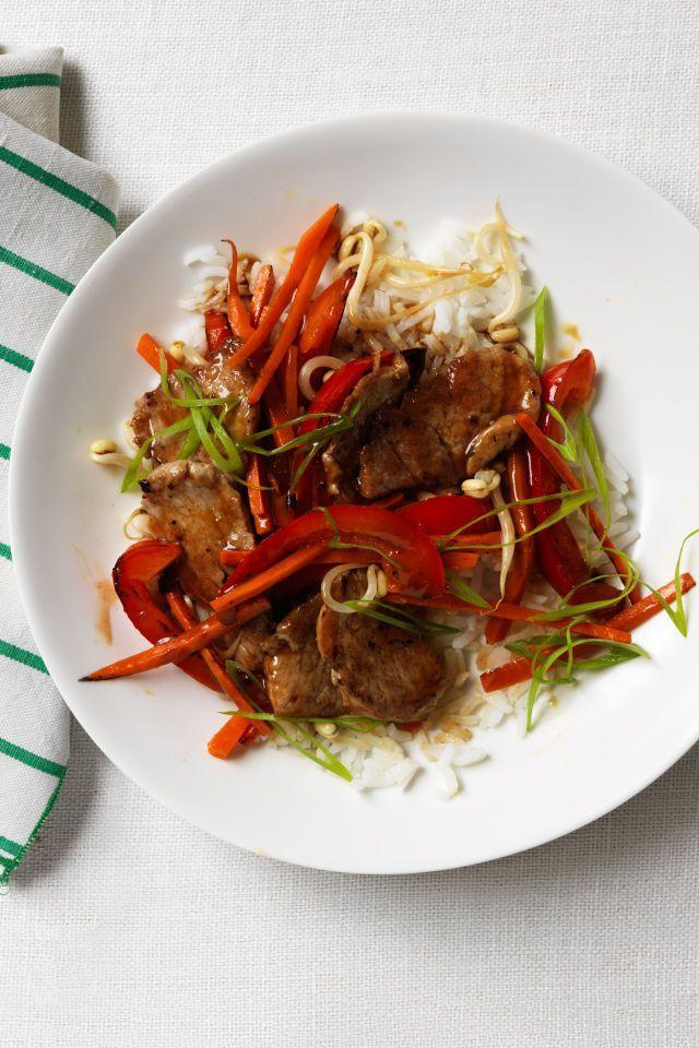 """<p>Chinese take-out has nothing on this sweet-and-sour pork recipe.</p><p><em><a href=""""https://www.womansday.com/food-recipes/food-drinks/recipes/a11985/sweet-and-sour-pork-and-vegetable-stir-fry-recipe/"""" rel=""""nofollow noopener"""" target=""""_blank"""" data-ylk=""""slk:Get the Sweet and Sour Pork and Vegetable Stir-Fry recipe."""" class=""""link rapid-noclick-resp"""">Get the Sweet and Sour Pork and Vegetable Stir-Fry recipe.</a></em></p>"""