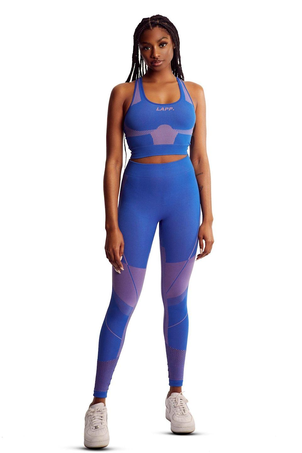 "<p><strong>seamless</strong></p><p>lappthebrand.com</p><p><strong>£100.00</strong></p><p><a href=""https://www.lappthebrand.com/collections/all/products/nautical-blue-seamless-legging?variant=32113185357914"" rel=""nofollow noopener"" target=""_blank"" data-ylk=""slk:Shop Now"" class=""link rapid-noclick-resp"">Shop Now</a></p>"