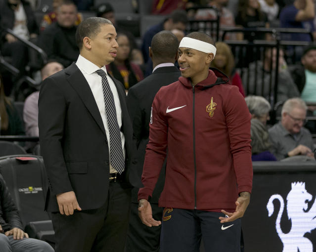 Isaiah Thomas unlocks all sorts of lineup options for Cavaliers coach Tyronn Lue. (AP)