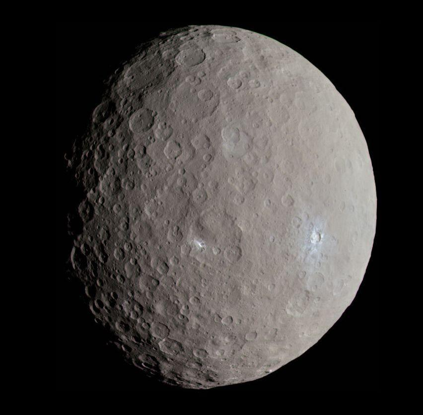<p>Ceres is a world of firsts. </p><p>It became the first asteroid ever discovered, when the Italian astronomer Giuseppe Piazzi spotted it in 1801. At 580-miles in diameter, Ceres is the largest object in the asteroid belt between Mars and Jupiter. It's so large that many scientists consider it to be a dwarf planet. Additionally, it's the first object in the asteroid belt discovered to have a spherical shape, carved by its own gravity. </p><p>In 2015, NASA's Dawn spacecraft visited Ceres, snapping high resolution photos and collecting data about the strange world. Dawn mapped the surface, spotted evidence of cryovolcanism and identified organic molecules on its surface. </p>