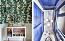 """<p>We'll be the first to admit that <a href=""""https://www.elledecor.com/home-remodeling-renovating/home-renovation/g11834771/how-to-remove-wallpaper/"""" rel=""""nofollow noopener"""" target=""""_blank"""" data-ylk=""""slk:installing wallpaper"""" class=""""link rapid-noclick-resp"""">installing wallpaper</a> is a huge undertaking. Not only does the process itself require the utmost attention, but it's also a big commitment. After all, it's always possible that you'll tire of your once-desired repeat a few years later. But if you want to breathe some life into your home in a way that a fresh coat of paint can't capture, wallpaper can be a design investment worth making. So we searched high and low for the best wallpapered rooms around to give you endless inspiration. Though there's a broad array of patterns—<a href=""""https://www.elledecor.com/design-decorate/room-ideas/g28927321/dining-rooms-with-floral-wallpaper/"""" rel=""""nofollow noopener"""" target=""""_blank"""" data-ylk=""""slk:eye-catching florals"""" class=""""link rapid-noclick-resp"""">eye-catching florals</a> and standard stripes, to name two—the rooms here prove that there's more than one way to apply wallpaper. While many designers have covered all four walls in the same print, others have opted for accent walls or patterns in unconventional places. (The ceiling and the <a href=""""https://www.elledecor.com/design-decorate/room-ideas/g266/bathrooms-with-wallpaper/"""" rel=""""nofollow noopener"""" target=""""_blank"""" data-ylk=""""slk:bathroom"""" class=""""link rapid-noclick-resp"""">bathroom</a> are just two of our favorites.) And fear not, commitment-phobes: There are a number of peel-and-stick options out there for you, too. Get ready to step outside of your comfort zone with wallpaper that can give your space an attractive new look. <br></p>"""