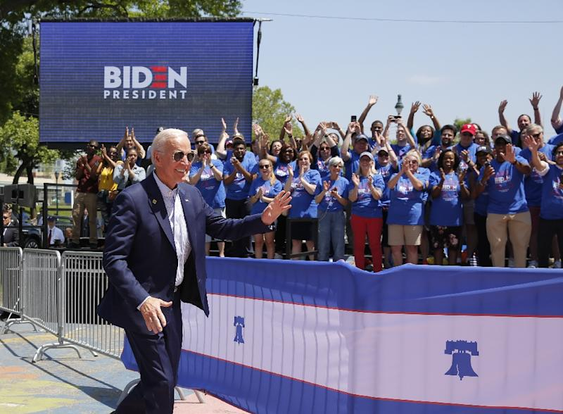 Former vice president Joe Biden has so far dominated, outpolling Trump and topping the Democratic field (AFP Photo/Dominick Reuter)