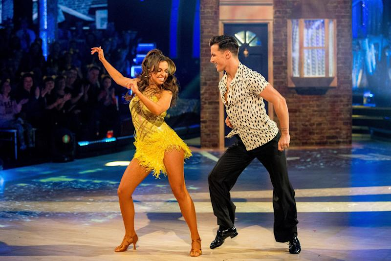 Twinkle toes: Louisa Lytton and Gorka Marquez on Strictly (BBC)