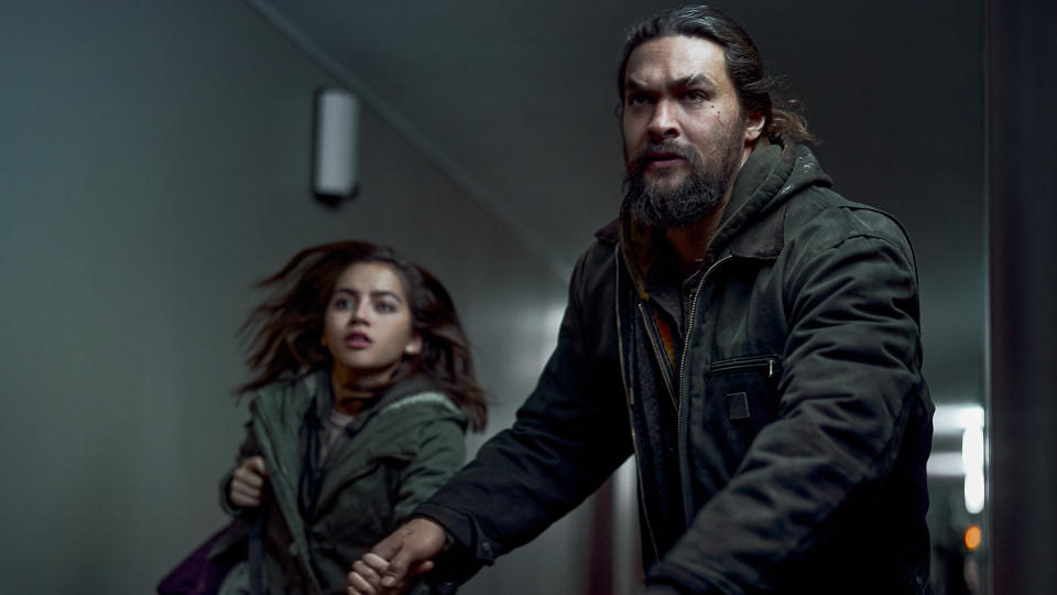 Isabela Merced and Jason Momoa star in action thriller 'Sweet Girl'. (Clay Enos/Netflix)