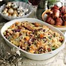 """<p>Quinoa is loaded with protein, fibre and magnesium and adds wonderful nuttiness to this Thanksgiving-style stuffing.</p><p><strong>Recipe: <a href=""""https://www.goodhousekeeping.com/uk/food/recipes/a536018/roasted-vegetarian-quinoa-stuffing-recipe/"""" rel=""""nofollow noopener"""" target=""""_blank"""" data-ylk=""""slk:Roasted vegetarian quinoa stuffing"""" class=""""link rapid-noclick-resp"""">Roasted vegetarian quinoa stuffing</a></strong></p>"""