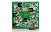 "<p>Godiva's 2017 offering includes a selection of 25 of their signature chocolates from rich caramels to fruity and hazelnut-flavoured creations. <br><a href=""http://www.godivachocolates.co.uk/"" rel=""nofollow noopener"" target=""_blank"" data-ylk=""slk:Godiva, £28"" class=""link rapid-noclick-resp""><i>Godiva, £28</i></a> </p>"