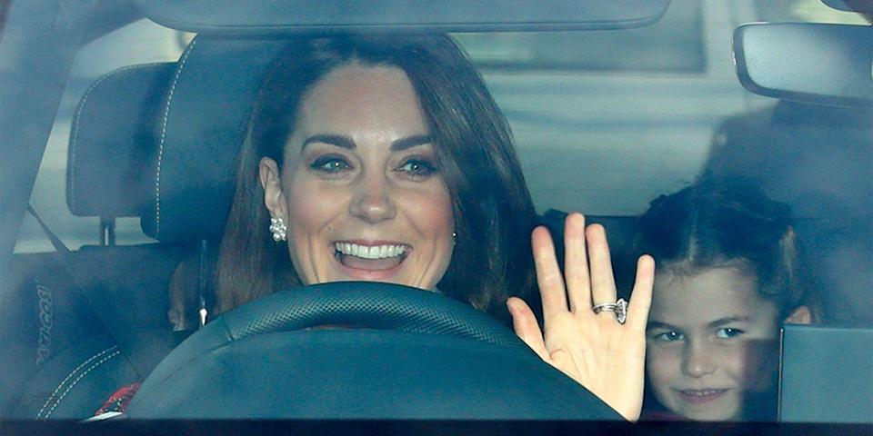 <p>The duchess takes the wheel as she drives her family to a Christmas lunch at Buckingham Palace.</p>