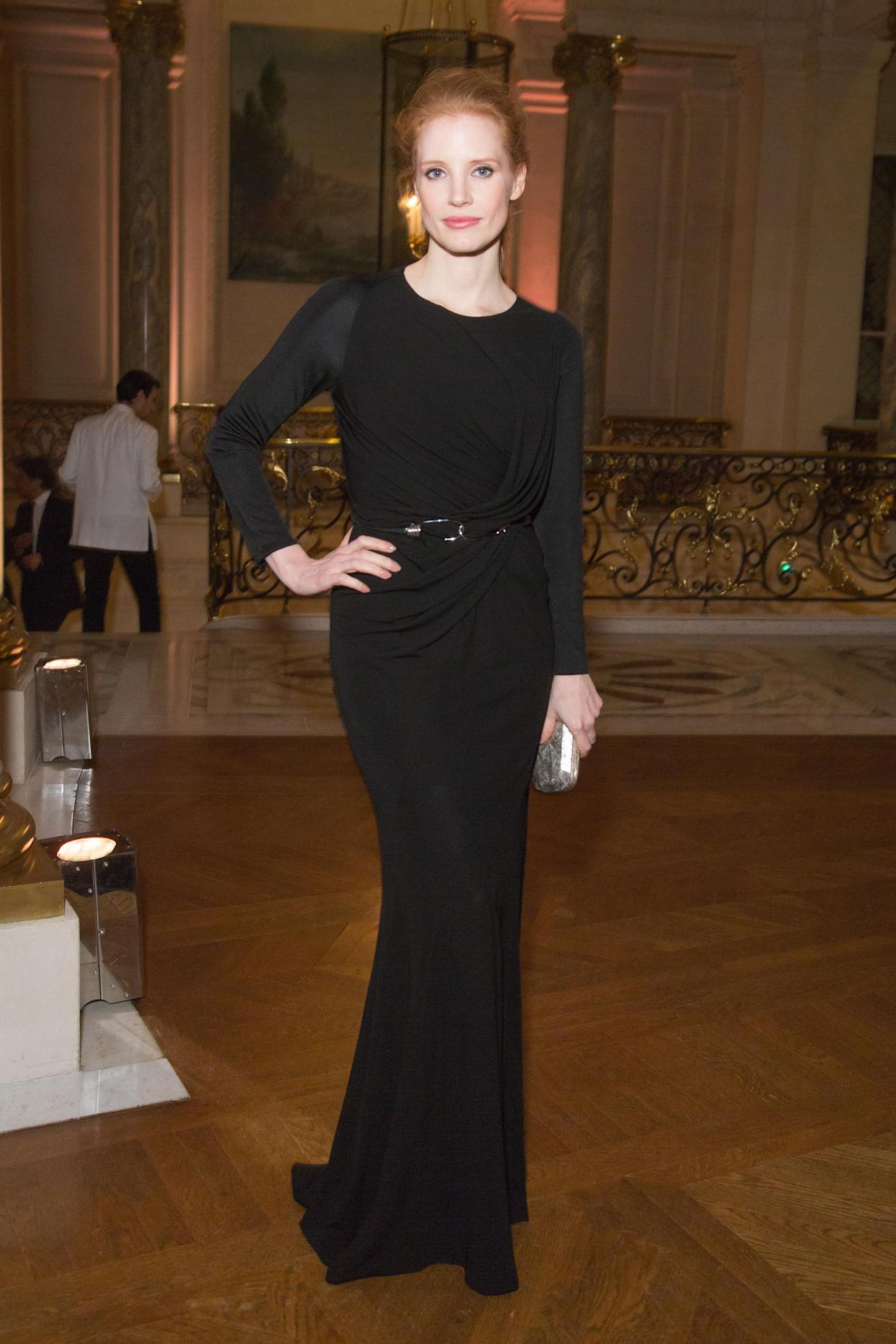 Look of the Day: Jessica Chastain at Paris Fashion Week