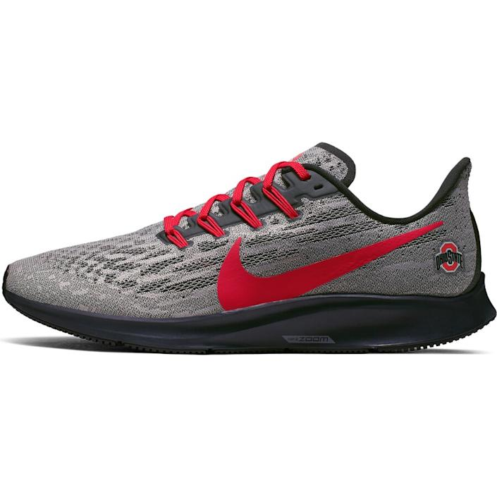 Men's Nike Gray/Scarlet Ohio State Buckeyes Air Zoom Pegasus 36 Sneakers
