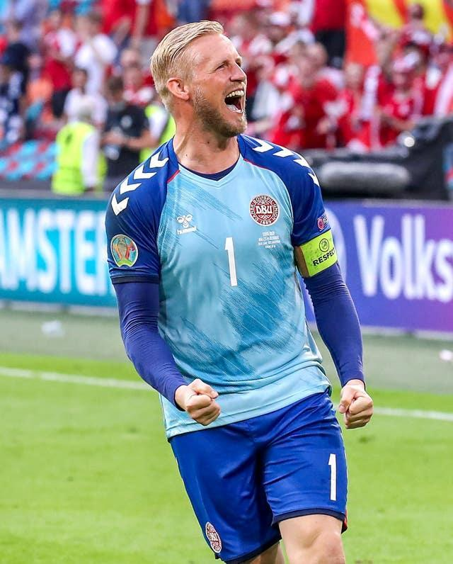 Denmark's run to the last four was fuelled by emotion after Christian Eriksen suffered a cardiac arrest in their first game. Kasper Schmeichel celebrated with gusto after the last-16 win over Wales